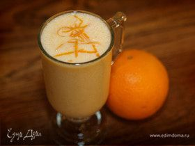 Молочный коктейль с персиками и апельсинами