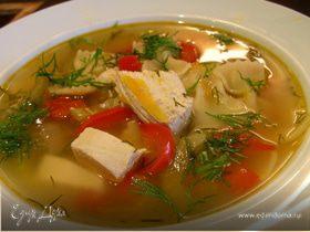 Суп из индейки (курицы) с лимоном
