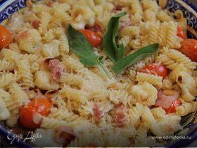 Салат из макарон с цветной капустой и кедровыми орешками