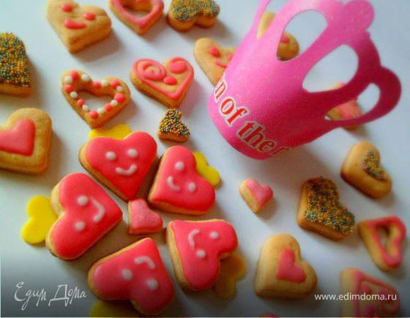 """Печенье """"пылающие сердца"""""""