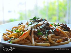 Быстрые болоньезе (Spaghetti alla Bolognese)