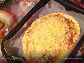 Очень вкусная пицца на скорую руку