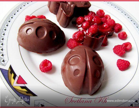 Малиновое желе в шоколаде