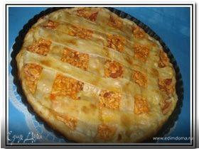 Пирог с помидорами и адыгейским сыром