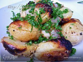 Молодой картофель, печеный на углях по-гуцульски
