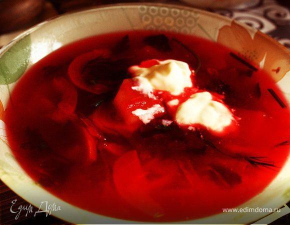 свекольный суп рецепт с фото