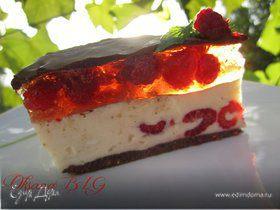 """Торт """"Зефирно-малиновый"""""""