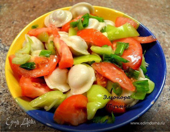 Пельмени с овощами