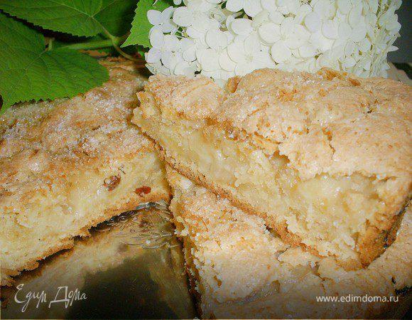 Пирог яблочный с изюмом
