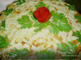 Закусочный кабачковый тортик