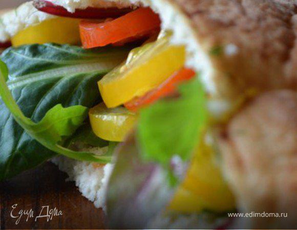 Домашняя пита с овощами