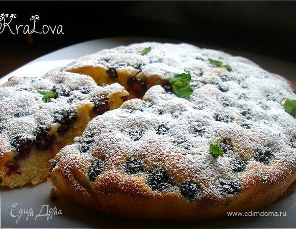 Ежевично-кукурузный пирог