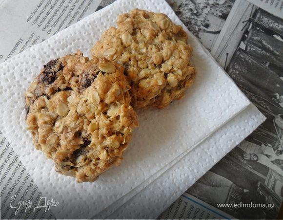 Овсяное печенье с шоколадом