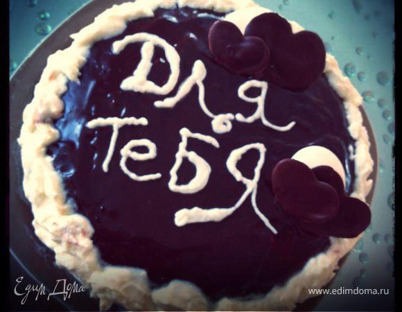 "Торт ""Белое на темном"""