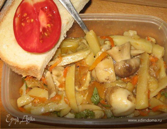 """Картофель с грибами """"По-селянски"""""""