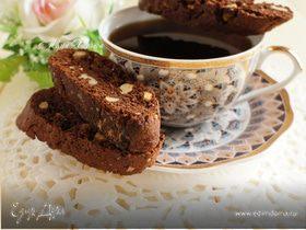 Шоколадные бискотти с грецкими орехами