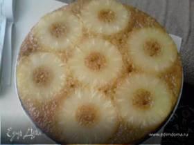 Медовый пирог с ананасом