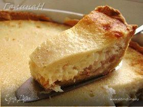 Кокосовый пирог с яблоками