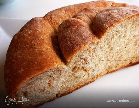 Хлеб пшенично-ржаной с укропом и паприкой