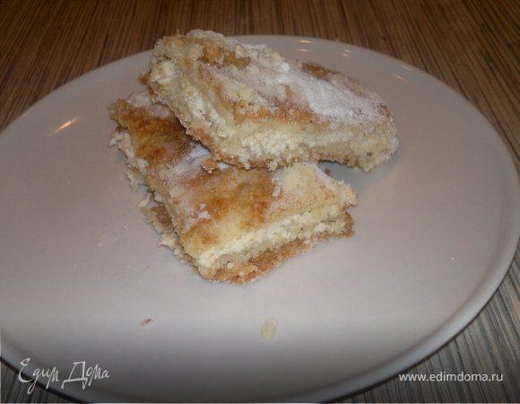 насыпной творожный пирог рецепт с фото пошагово