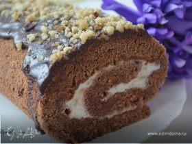 Любимый шоколадный рулет с грецкими орешками (ГОТОВИМ С HOMEQUEEN CORPORATION)
