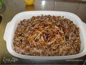 Мжадора рис с чечевицей по-арабски