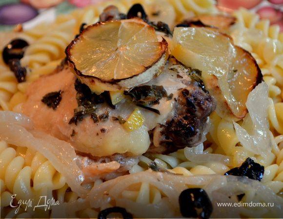 Курица с оливками и лимоном