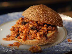 Сэндвич с индейкой, изюмом и оливками