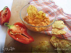 Соус из запеченного перца и миндаля от Дж. Оливера + рецепт домашних чипсов за 10 минут