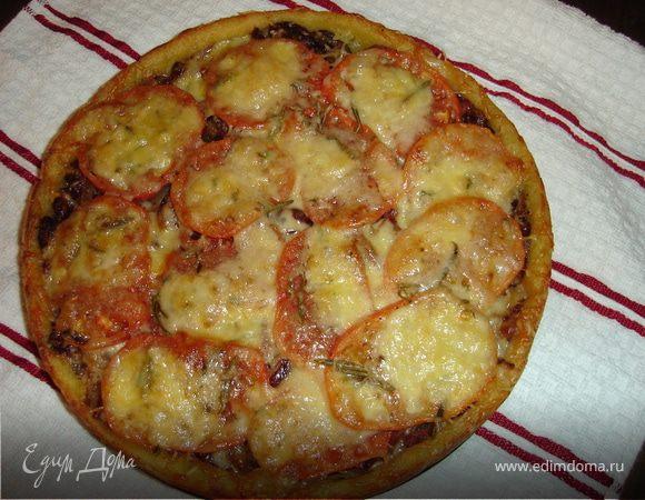 Пирог пикантный с фасолью (вариация на тему картофельного теста)