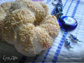 Турецкий бублик Симит с сиропом пекмез