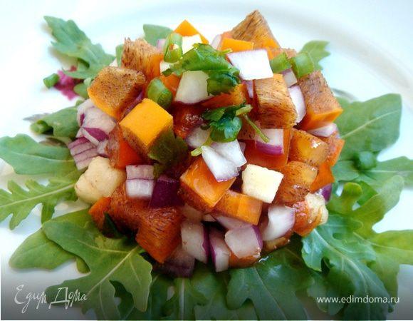 Салат из яблок и хурмы