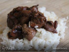 Индейка в соусе терияки с рисом в мультиварке
