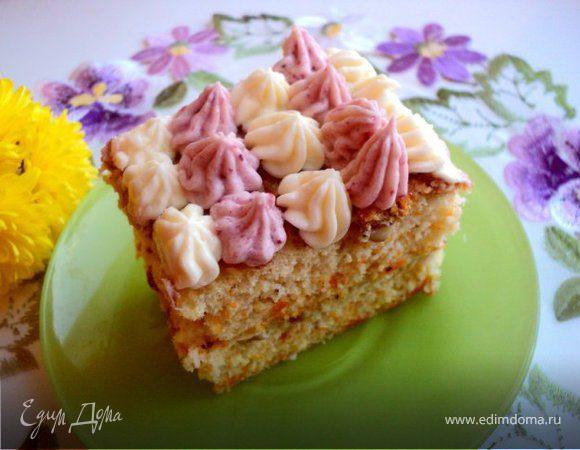 Тыквенно-ореховое пирожное