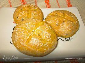 Тыквенные булочки с творожным сыром и зеленью