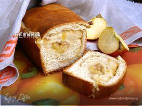Пирог-рулет с очень ароматной яблочной начинкой