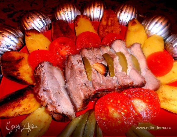 Мясо в соляной избушке