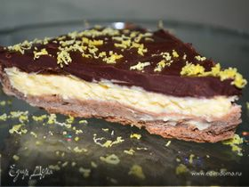 Нежный лимонно-шоколадный тарт