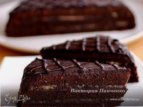 """Шоколадно-ореховый экспериментальный торт """"Паве"""""""