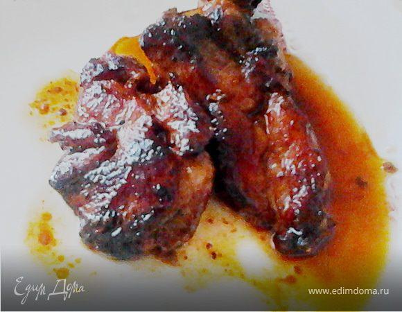 Свиные отбивные с вином (использование соков, выделяемых свининой)