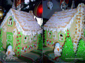 Имбирный пряничный домик (подробное руководство к действию+чертеж домика)