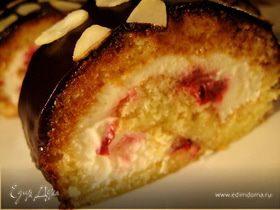 Рулет вишнево-ромовый с творожным сыром «Дехин»