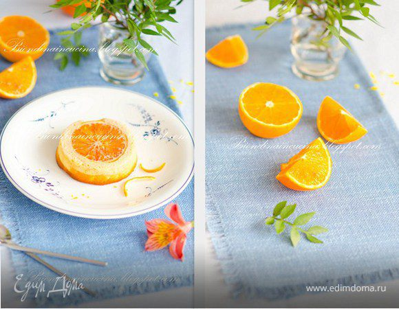 Воздушный перевернутый чизкейк с апельсином и лимоном