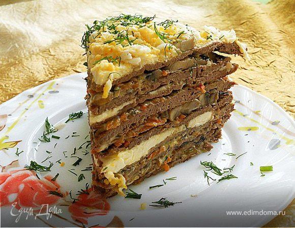 вкусный печеночный торт рецепт с фото