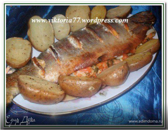 Фаршированная форель, запеченная целиком рецепт �� с фото пошаговый, Едим Дома кулинарные рецепты от Юлии Высоцкой