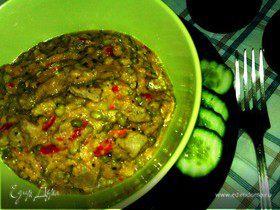 Сочная шейка с машем, красным перцем и базиликом в нежном соусе