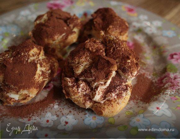 """Пирожные """"Шу"""" с красной смородиной, пошаговый рецепт с фото"""