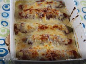 Гратен из цикория с ветчиной и сырным соусом по-бельгийски