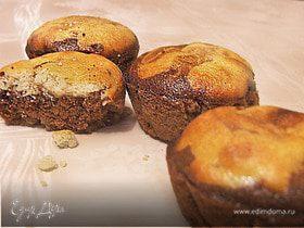 "Маффины ""Темное дно"" (Black bottom cupcakes)"