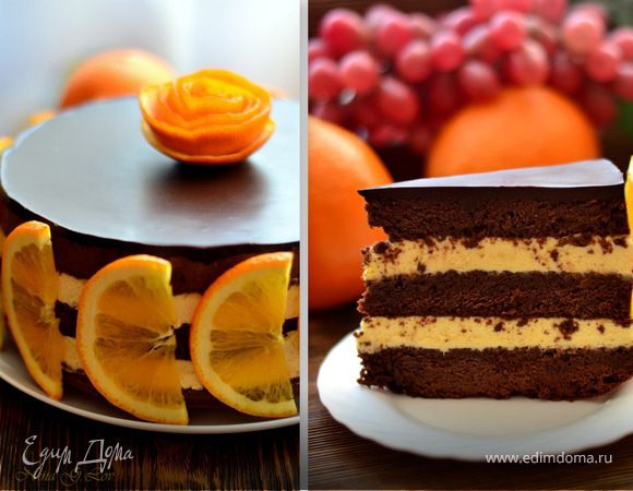 бананово апельсиновый торт рецепт
